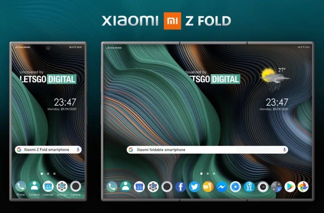 """小米手机新专利:""""Z""""型折叠屏"""
